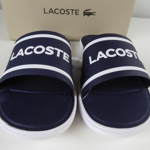 697044d75167 Lacoste L.30 Caw Synthetic Slide Sandals NIB Blue